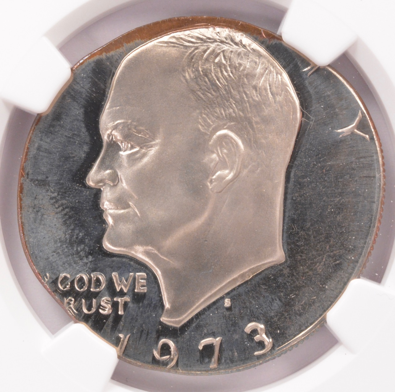 1973-S Proof Ike on Half Planchet