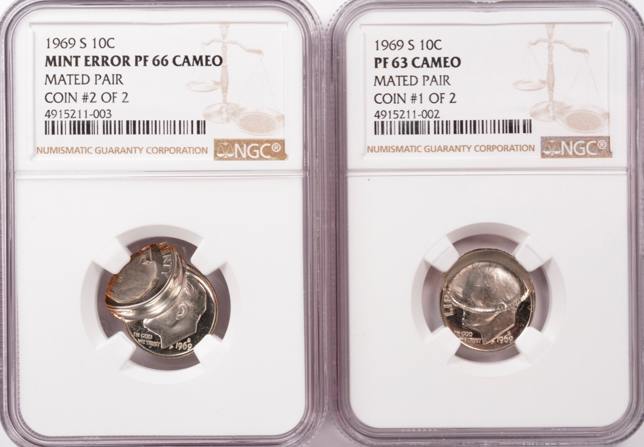 Mated Pair Proof Dimes